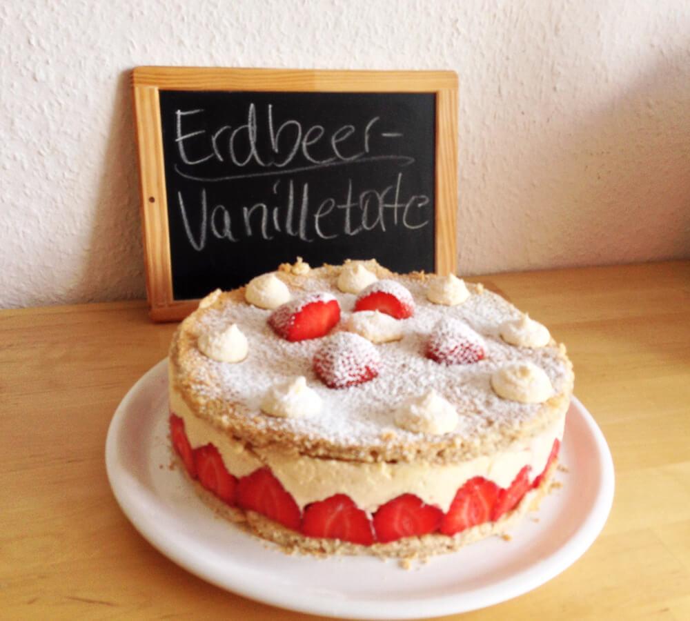 Rezept Erdbeer Vanille Torte
