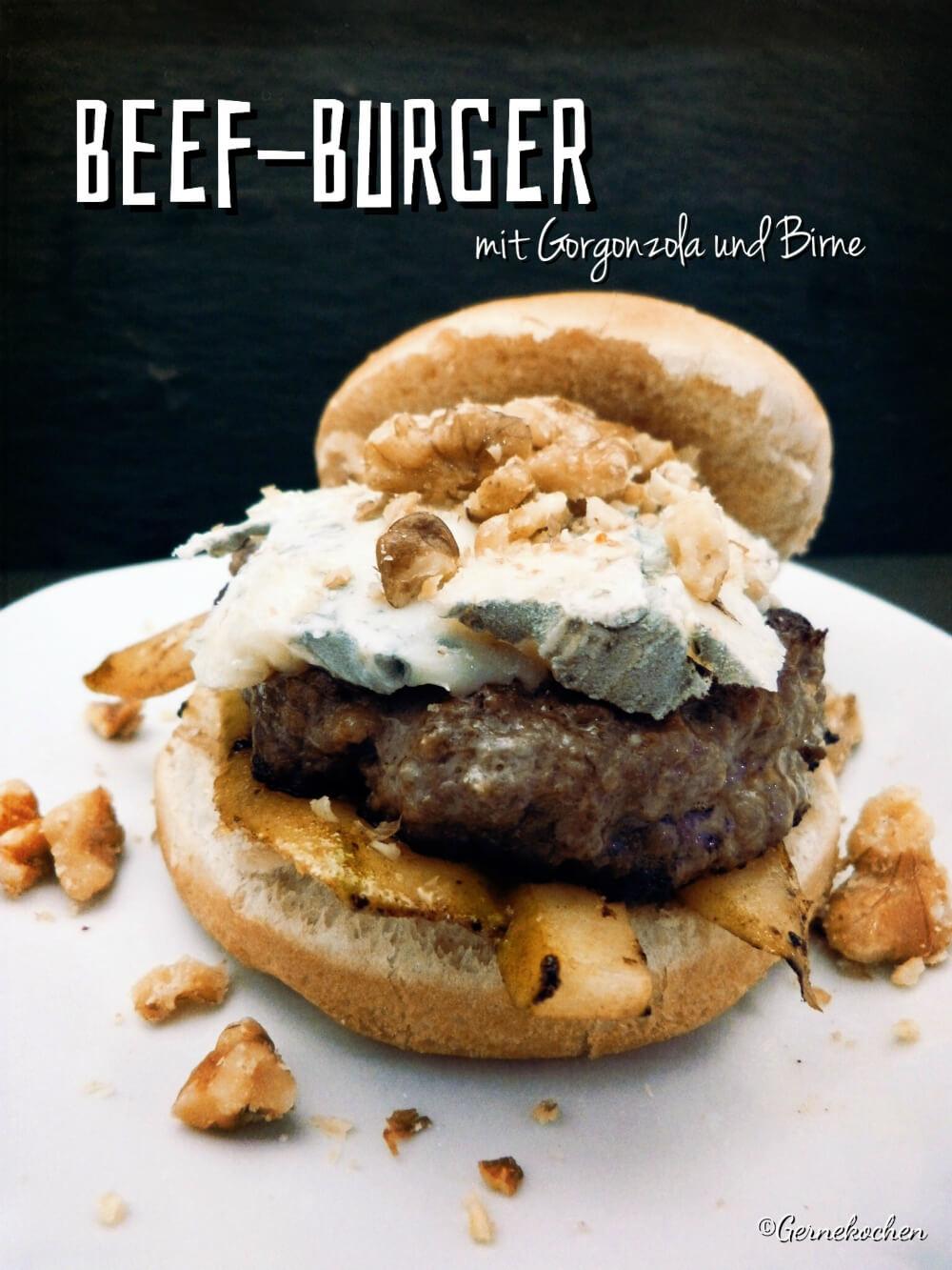 rezept burger mit gorgonzola birne waln ssen und honig. Black Bedroom Furniture Sets. Home Design Ideas