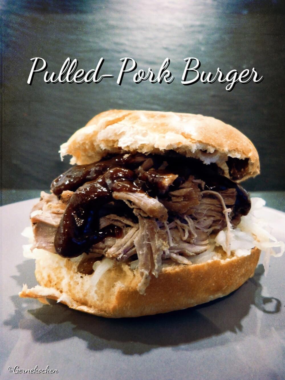 Pulled Pork Burger oder einfach nur Zupffleischbrötchen