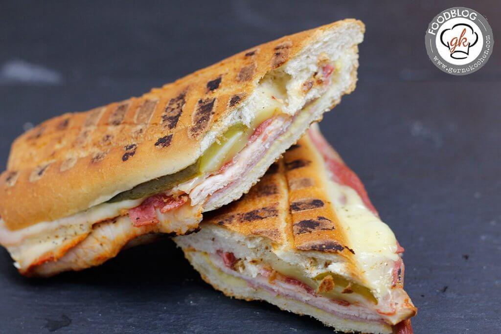Rezept: Sandwich Cuban Style - Bacon, Meat & Cheese