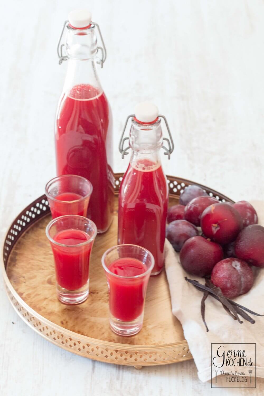 Rezept: Pflaumenlikör mit Weißwein und Gin - Gernekochen
