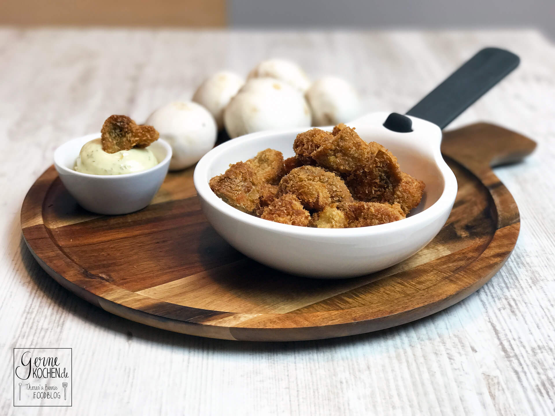 Frittierte Champignons – einfach und lecker