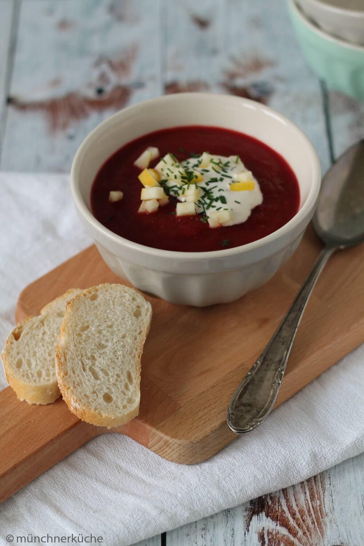 rezept rote bete suppe mit meerrettich von ines. Black Bedroom Furniture Sets. Home Design Ideas