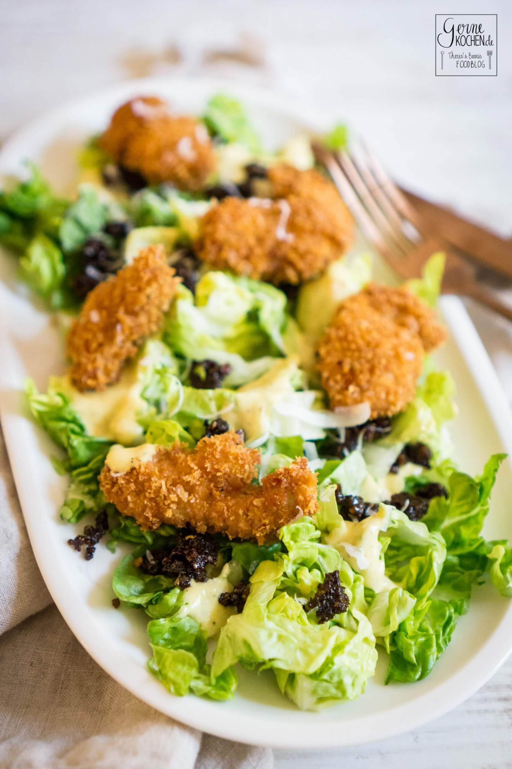 Caesar Salad mit Pumpernickelcrunch – Wenn AEG einlädt