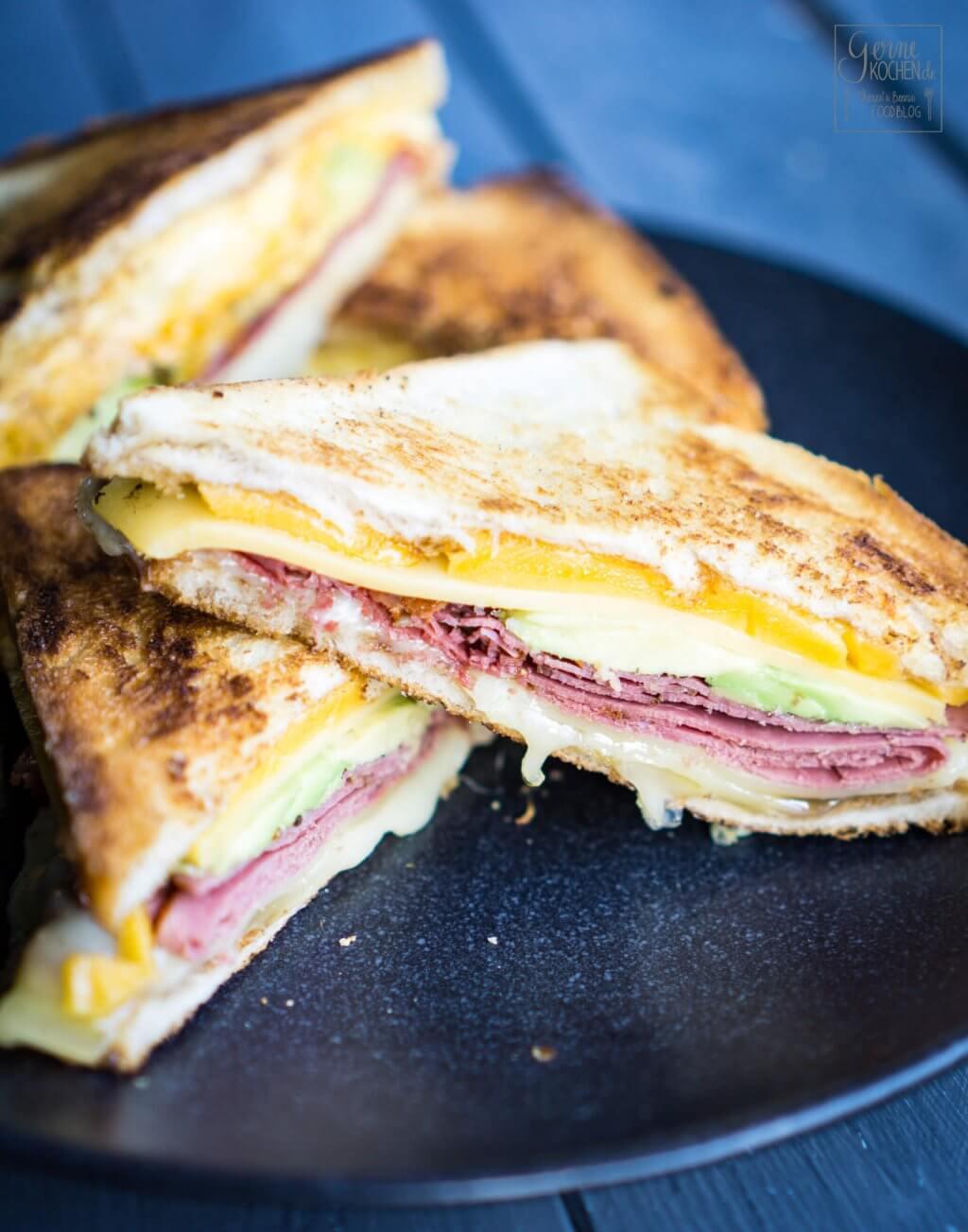 Rezept: Grilled Cheese Sandwich mit Pastrami - gernekochen.de