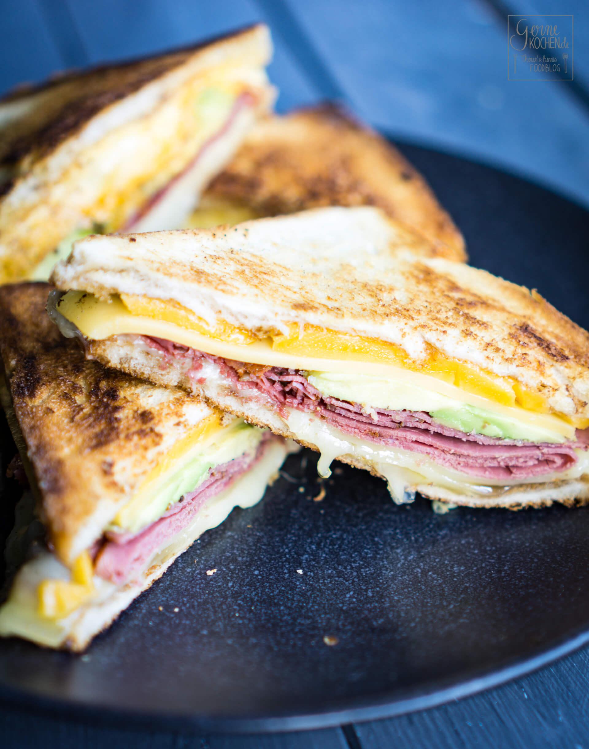Rezept: Grilled Cheese Sandwich mit Pastrami