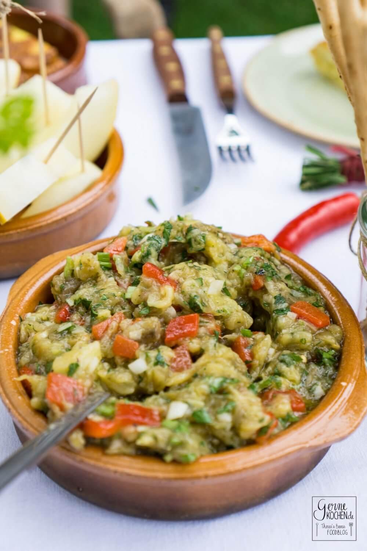 Rezept: Türkischer Auberginensalat - Patlican Salata