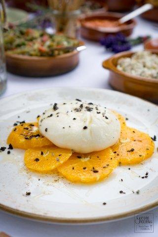 Burrata mit Orangen