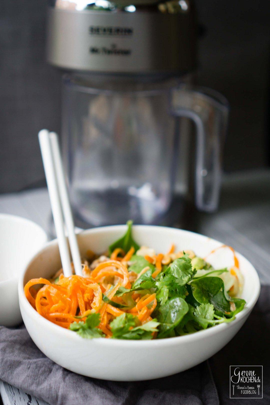 rezept asiatischer salat mit lachs. Black Bedroom Furniture Sets. Home Design Ideas