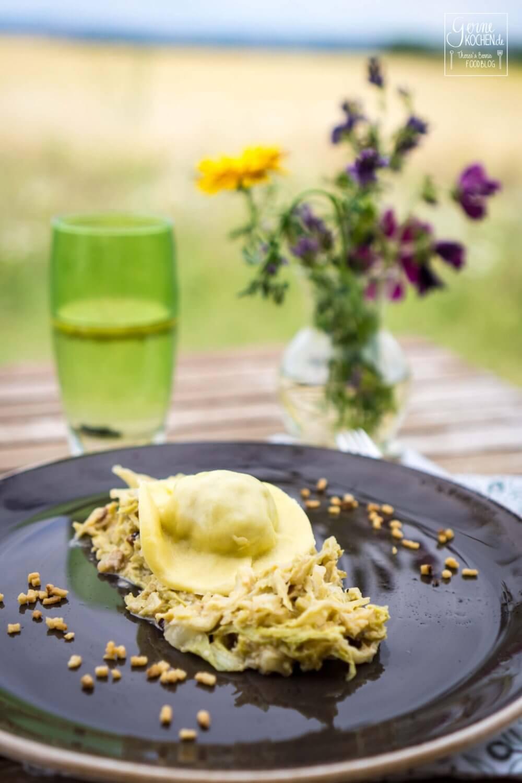 Rezept: Thüringer Ravioli auf Rahmwirsing