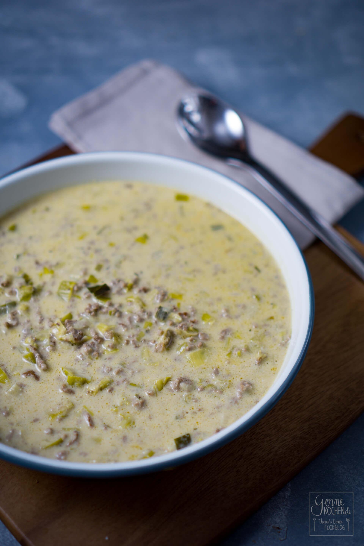 Rezept: Lauchcremesuppe oder Käse-Lauch-Suppe - Gernekochen.de