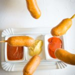 Corndogs – Hot Dogs frittiert