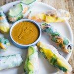 Summer Rolls mit Erdnussdip – leicht, erfrischend und lecker