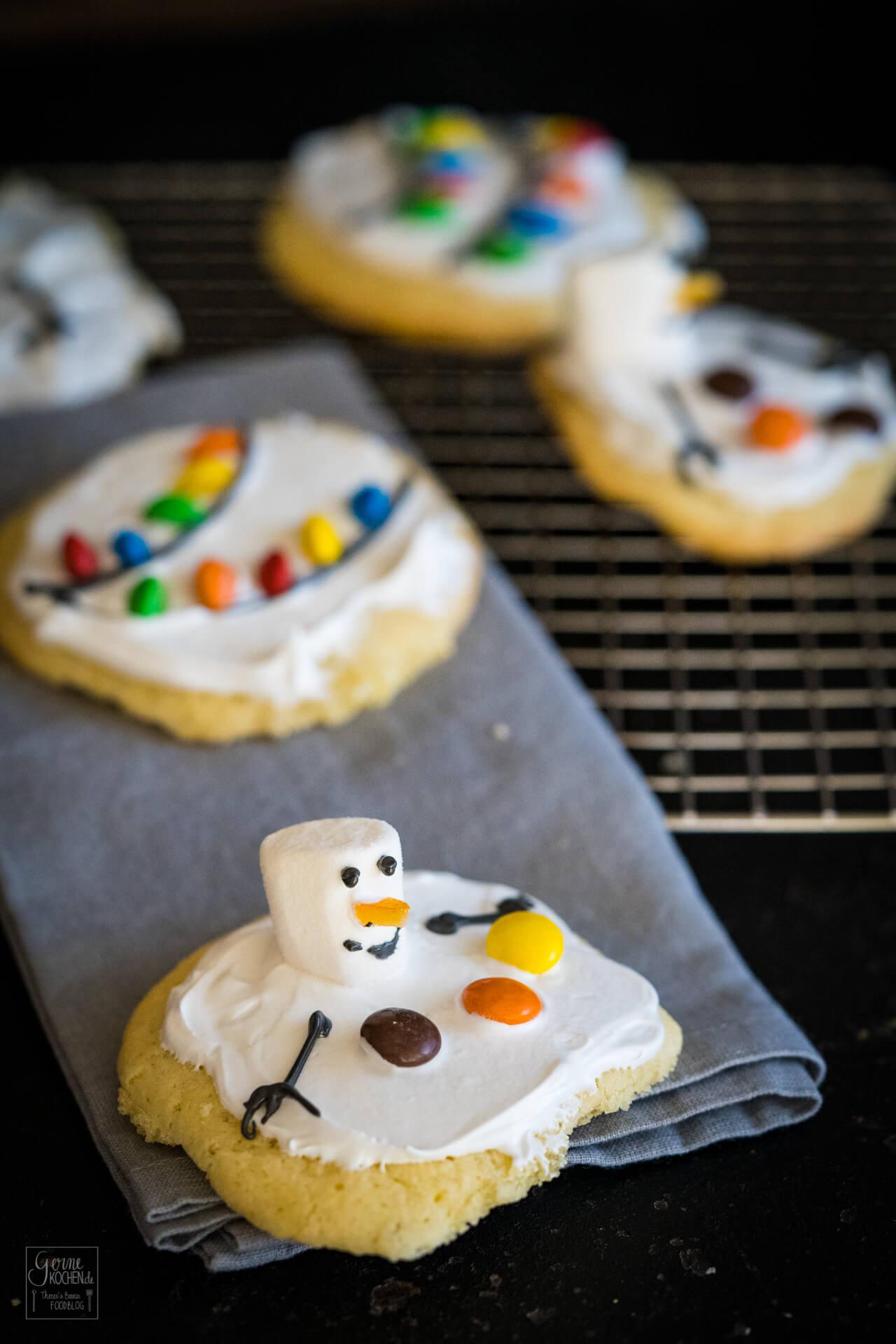 Melted Snowman Cookies – Geschmolzene Schneemannkekse