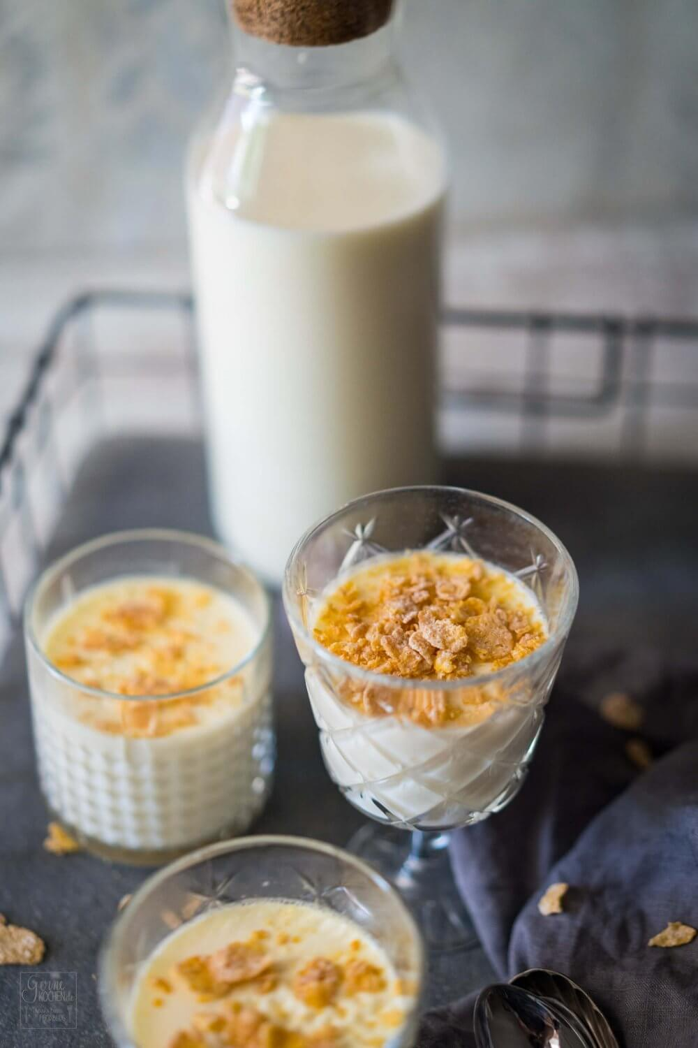 Conflakes Panna Cotta