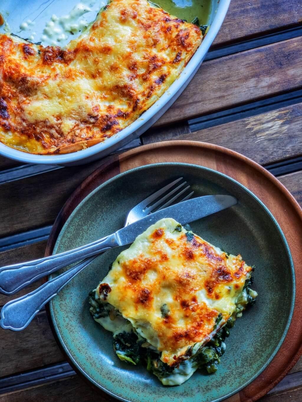 Spinat-Mangold-Lasagne