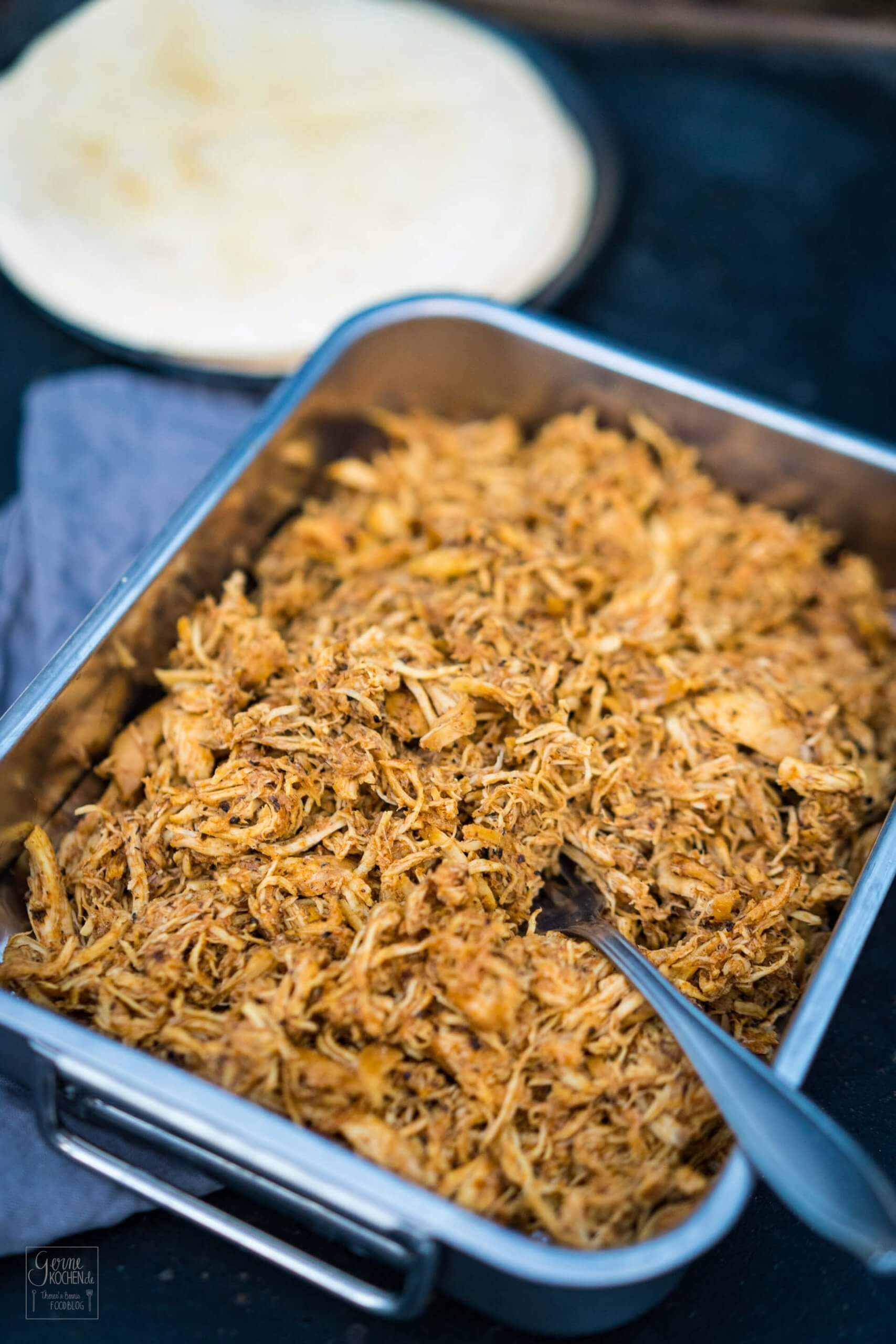 Pulled Chicken ohne Grill