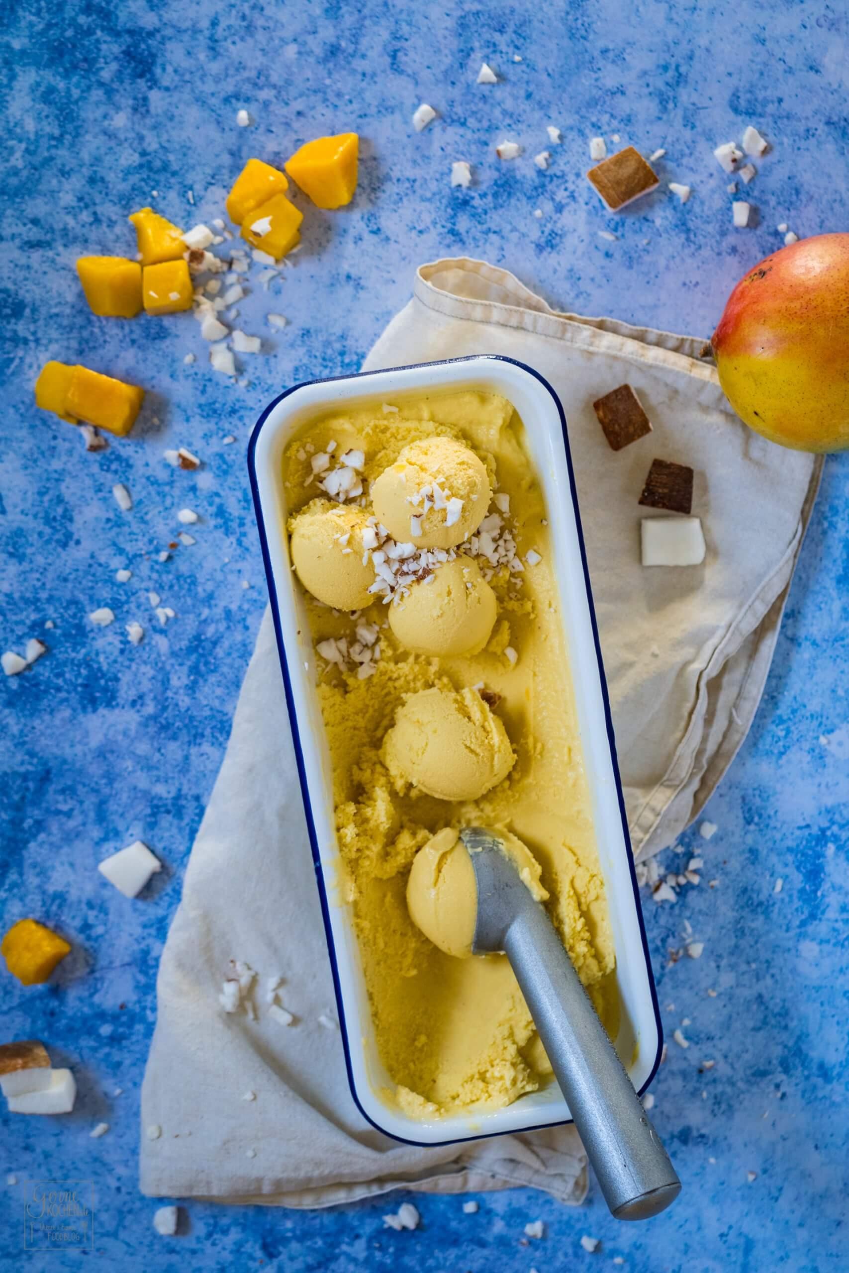 Kokos-Mango-Eis