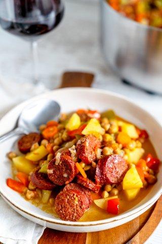 Chorizo-Kichererbsen-Eintopf